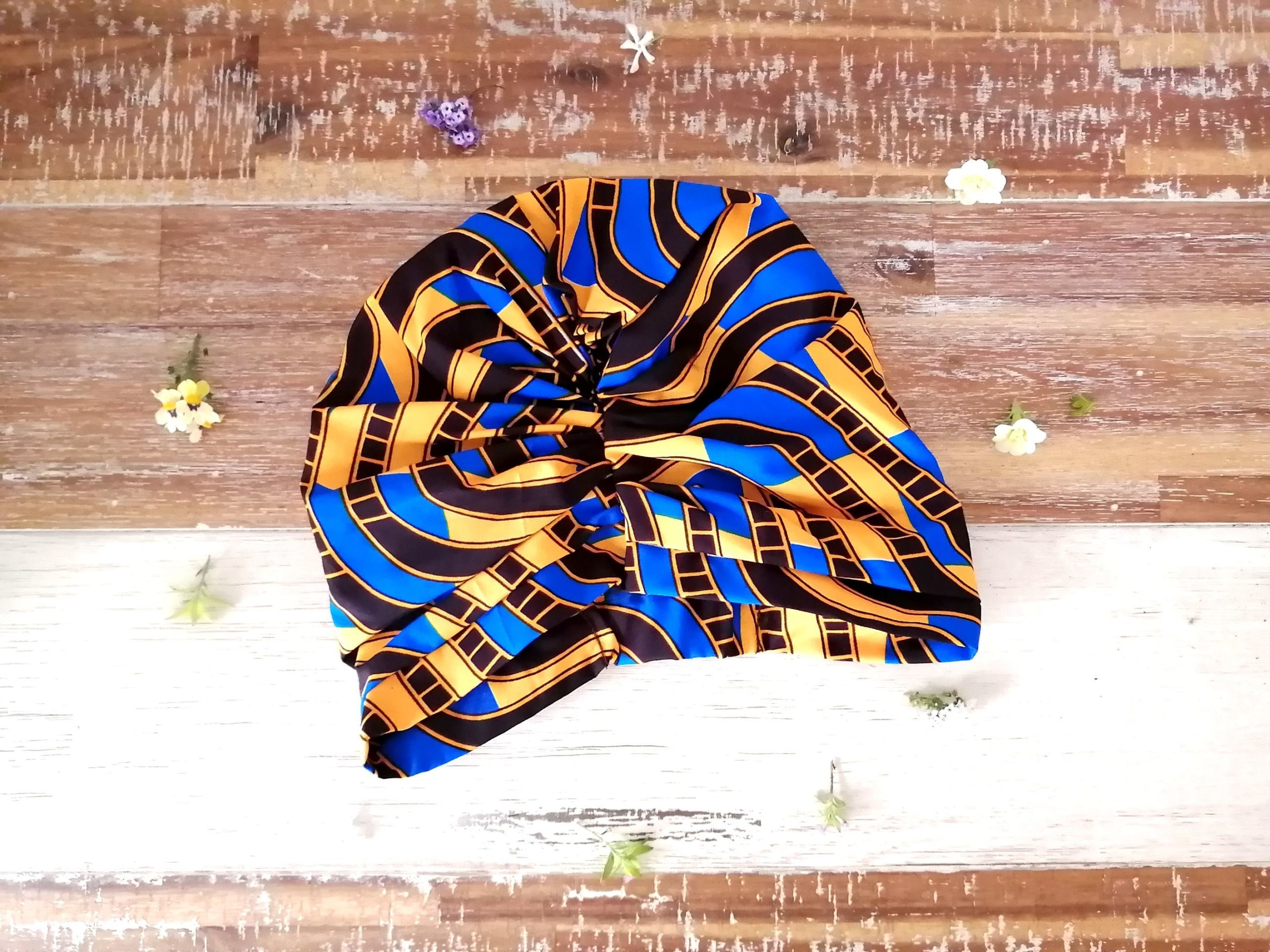 turban for sale on Just Grace online shop   Fashion accessory   fashion head piece   Support local   Handmade in Langa, Cape Town
